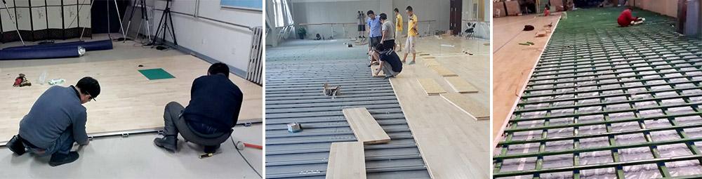 运动木地板安装     福恒润德运动木地板包