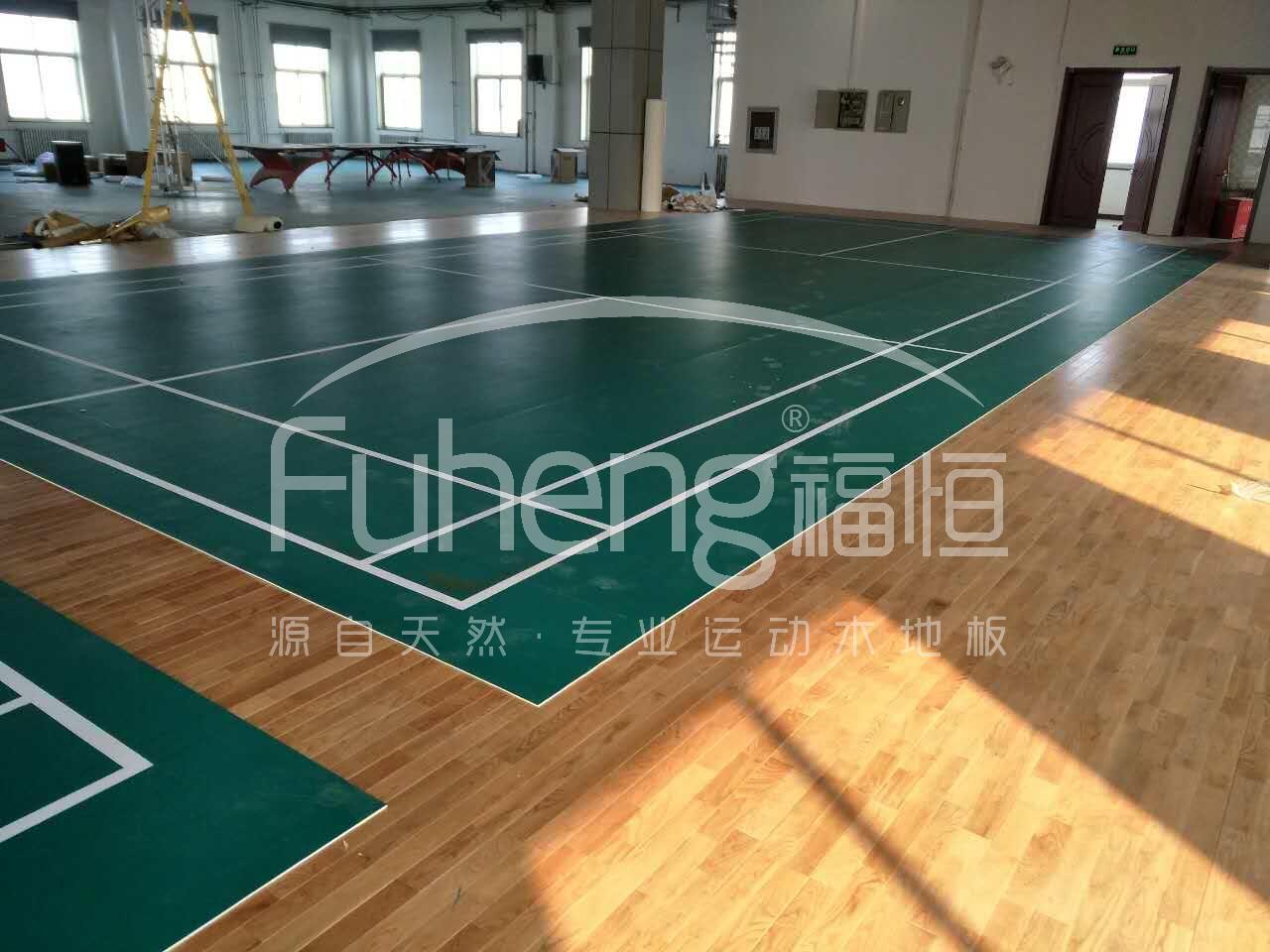 北京维通利电气有限公司羽毛球场木地板工程