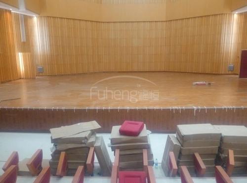 遵义师范大学体育馆、舞台木地板铺设工程