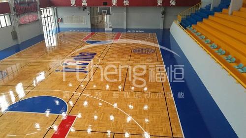 JR NBA广州站篮球馆木地板铺设工程